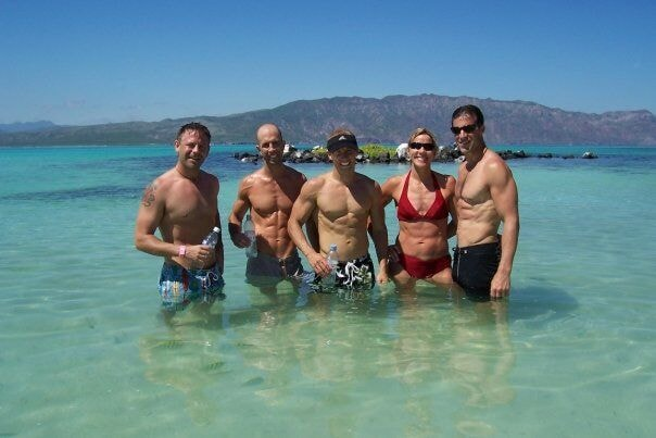 Chad with friends in Loreto, Mexico